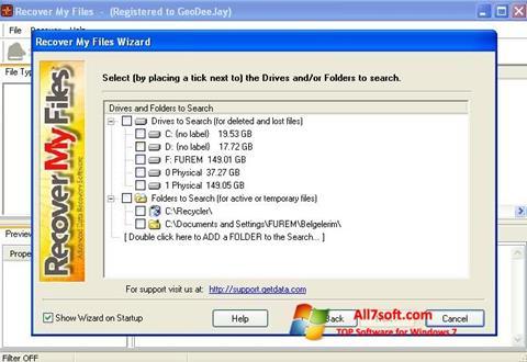 স্ক্রিনশট Recover My Files Windows 7