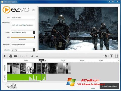 স্ক্রিনশট Ezvid Windows 7