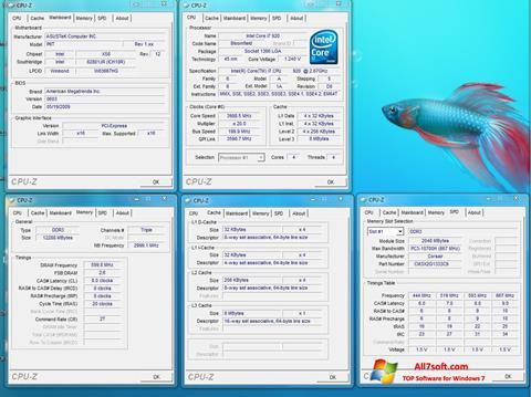 স্ক্রিনশট CPU-Z Windows 7