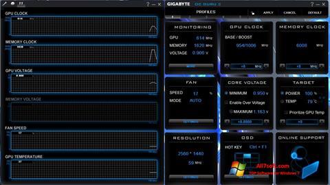 স্ক্রিনশট GIGABYTE OC Guru Windows 7