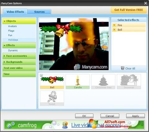 স্ক্রিনশট ManyCam Windows 7