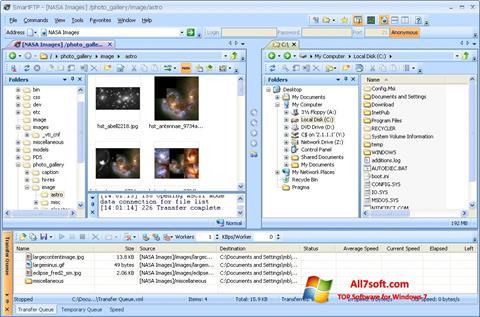 স্ক্রিনশট SmartFTP Windows 7