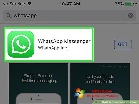 স্ক্রিনশট WhatsApp Windows 7