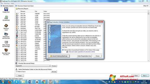 স্ক্রিনশট BadCopy Pro Windows 7