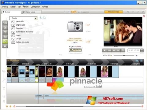 স্ক্রিনশট Pinnacle VideoSpin Windows 7