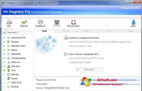 স্ক্রিনশট Vit Registry Fix Windows 7
