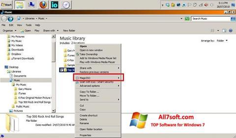 স্ক্রিনশট MagicISO Windows 7