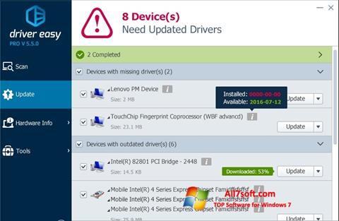 স্ক্রিনশট Driver Easy Windows 7