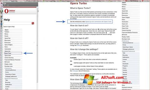 স্ক্রিনশট Opera Turbo Windows 7
