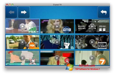 স্ক্রিনশট Crystal TV Windows 7
