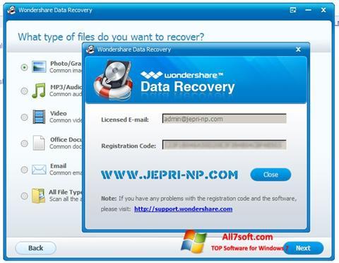 স্ক্রিনশট Wondershare Data Recovery Windows 7
