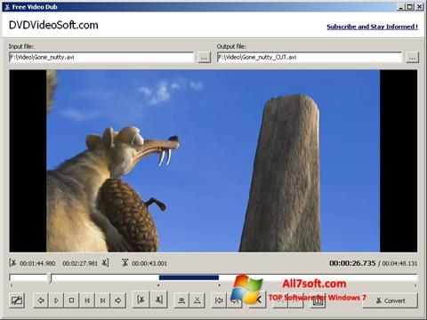 স্ক্রিনশট Free Video Dub Windows 7