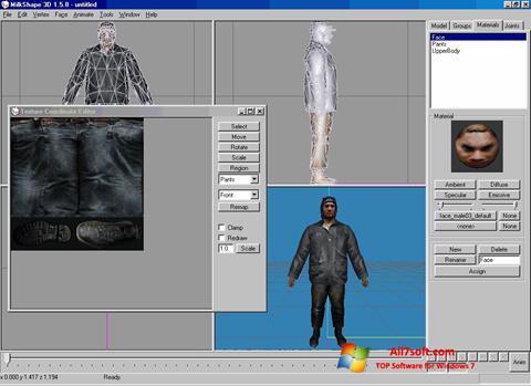 স্ক্রিনশট MilkShape 3D Windows 7