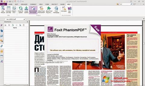 স্ক্রিনশট Foxit Phantom Windows 7
