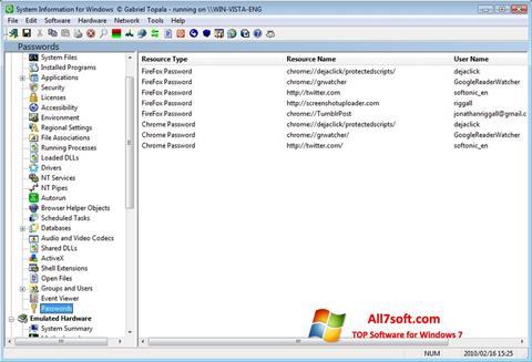 স্ক্রিনশট SIW Windows 7