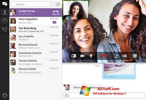 স্ক্রিনশট Viber PC Windows 7
