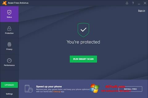 স্ক্রিনশট Avast Free Antivirus Windows 7