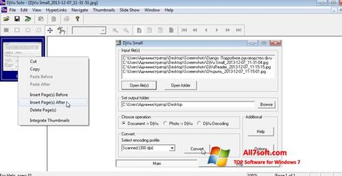 স্ক্রিনশট DjVu Solo Windows 7