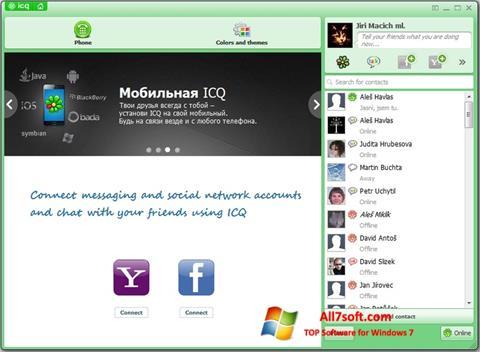 স্ক্রিনশট ICQ Windows 7