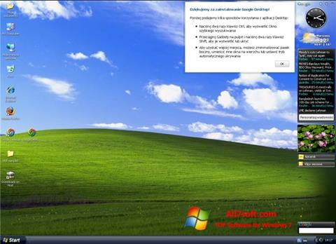 স্ক্রিনশট Google Desktop Windows 7