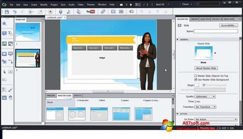 স্ক্রিনশট Adobe Captivate Windows 7
