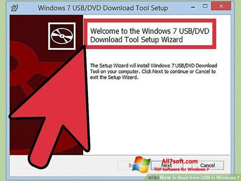 স্ক্রিনশট Windows 7 USB DVD Download Tool Windows 7