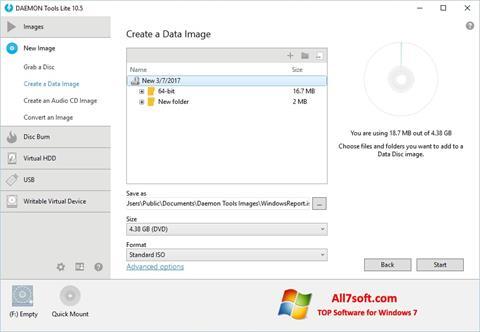 স্ক্রিনশট DAEMON Tools Lite Windows 7