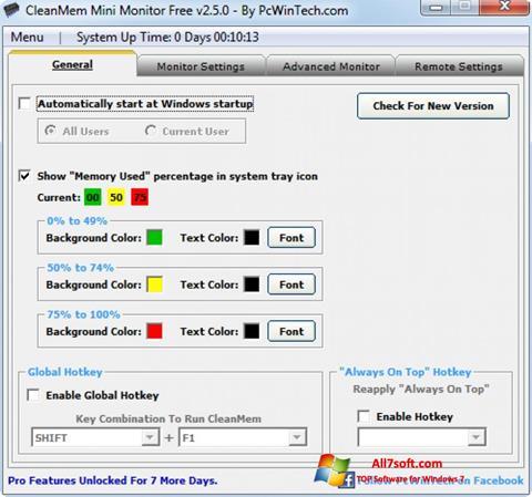 স্ক্রিনশট CleanMem Windows 7