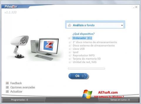 স্ক্রিনশট PrivaZer Windows 7