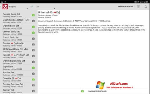 স্ক্রিনশট ABBYY Lingvo Windows 7
