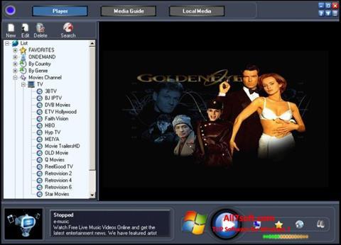 স্ক্রিনশট Online TV Live Windows 7