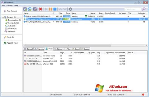 স্ক্রিনশট BitTorrent Windows 7