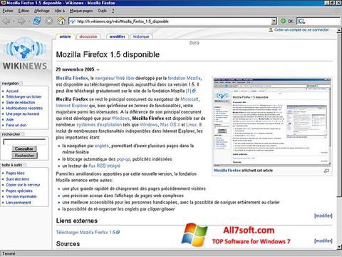 স্ক্রিনশট Mozilla Firefox Windows 7