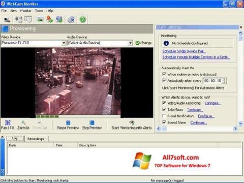 স্ক্রিনশট WebCam Monitor Windows 7