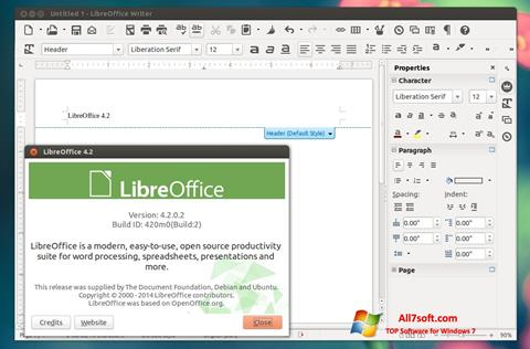 স্ক্রিনশট LibreOffice Windows 7