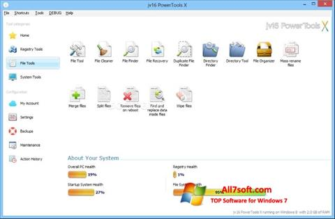 স্ক্রিনশট jv16 PowerTools Windows 7