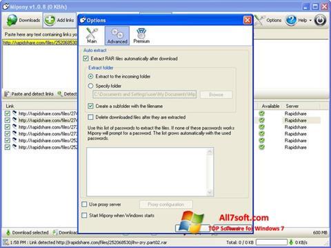 স্ক্রিনশট Mipony Windows 7