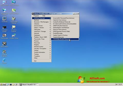 স্ক্রিনশট Hirens Boot CD Windows 7