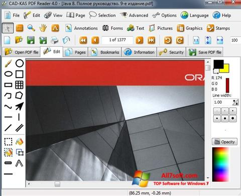 স্ক্রিনশট PDF Reader Windows 7