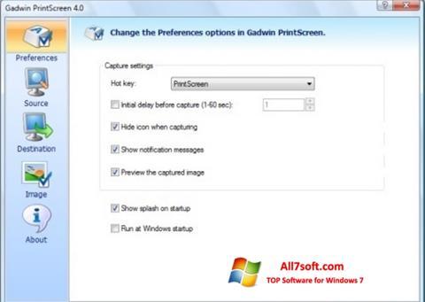 স্ক্রিনশট Gadwin PrintScreen Windows 7
