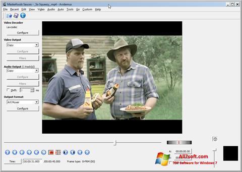 স্ক্রিনশট Avidemux Windows 7