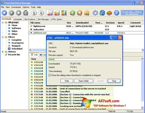 স্ক্রিনশট Download Master Windows 7