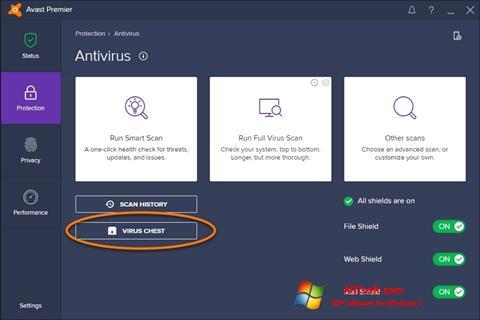 স্ক্রিনশট Avast Windows 7