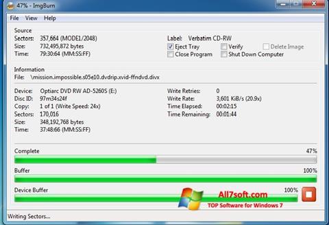 স্ক্রিনশট ImgBurn Windows 7
