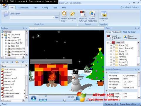 স্ক্রিনশট Sothink SWF Decompiler Windows 7
