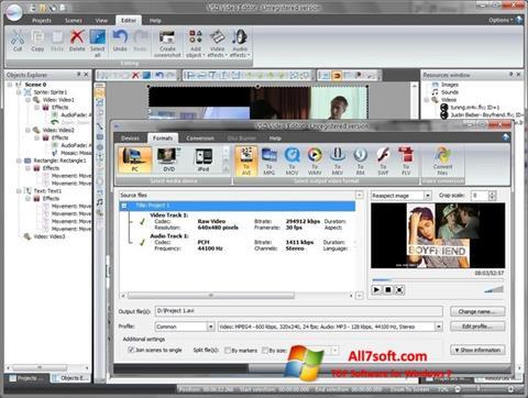 স্ক্রিনশট Free Video Editor Windows 7