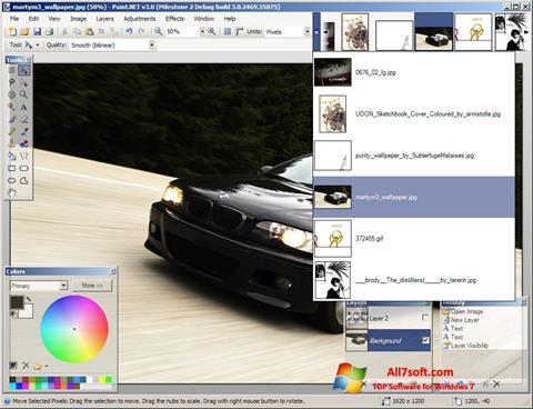 স্ক্রিনশট Paint.NET Windows 7