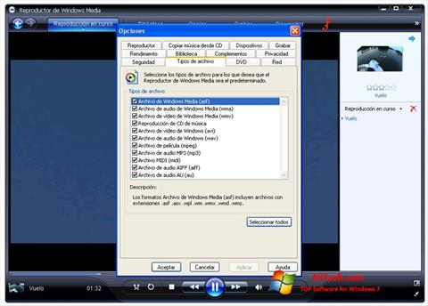 স্ক্রিনশট Windows Media Player Windows 7