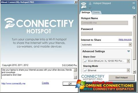 স্ক্রিনশট Connectify Windows 7