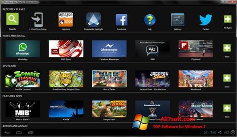 স্ক্রিনশট BlueStacks Windows 7